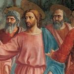 Masaccio_cristo fra apostoli_taglio