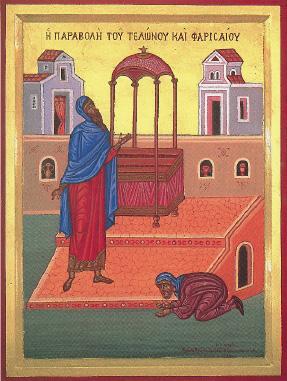 icona pubblicano e fariseo